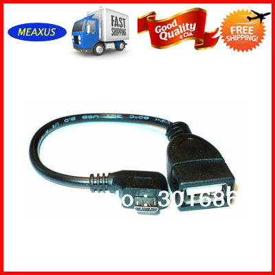 100 Pcs Free DHL Micro USB B  Male to USB 2.0 A Female OTG Data Host Cable for Nexus 7