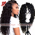 Soft Curly Synthetic Lace Front Wig Natural Curly Black Wigs with Baby Hair Top Quality Synthetic Hair Wigs for Black Women