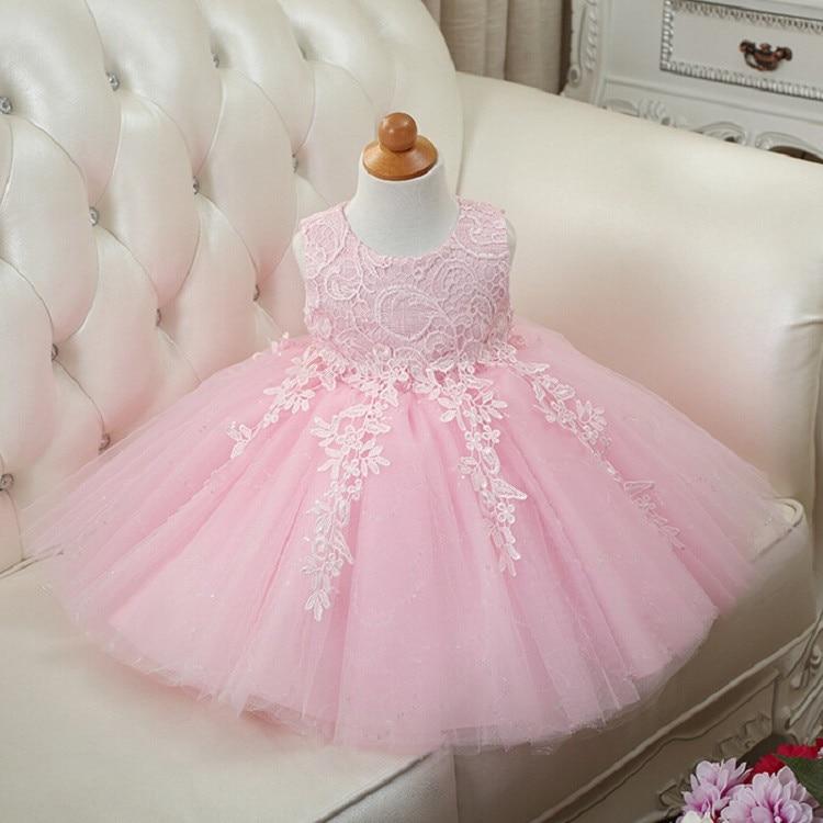 HTB1zQWRXfjM8KJjSZFNq6zQjFXak 2019 Kids Tutu Birthday Princess Party Dress for Girls Infant Lace Children Bridesmaid Elegant Dress for Girl baby Girls Clothes