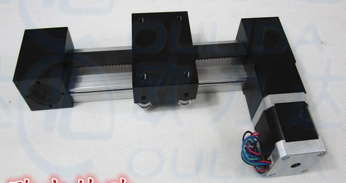 High Precision XP timing belt slide module Sliding Table effective stroke 100mm+1pc nema 23 Stage Linear Motion Moulde Linear