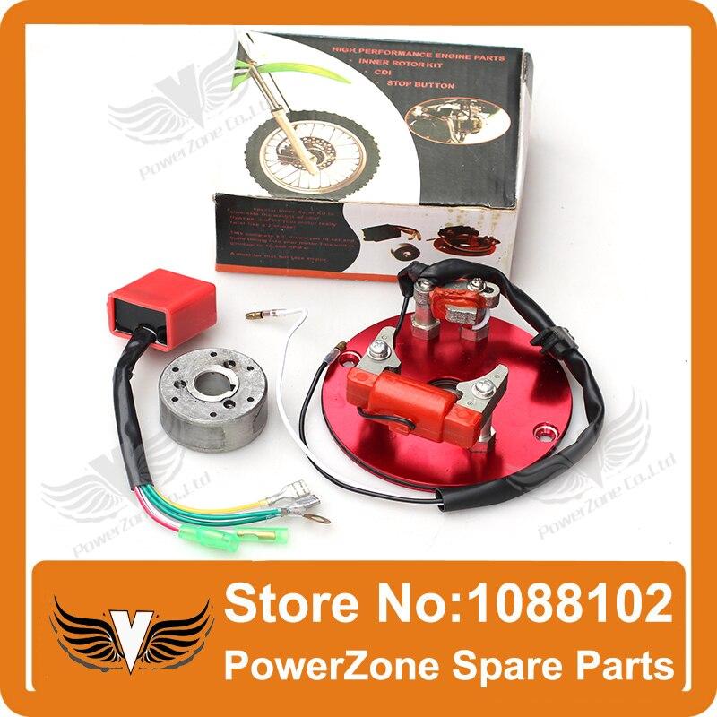High Performance Racing HP Magneto Coil Stator 50cc 125cc Dirt Pit Bike ATV Horizontal Engines Thumpstar Parts Free Shpping