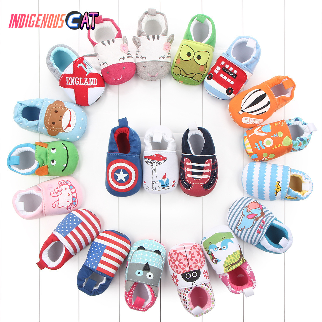 Newborn Skid-Proof Baby Shoes Soft Genuine Leather Baby Boys Girls Infant Shoes Slippers 0-6 6-12 12-18 18-24 First Walkers