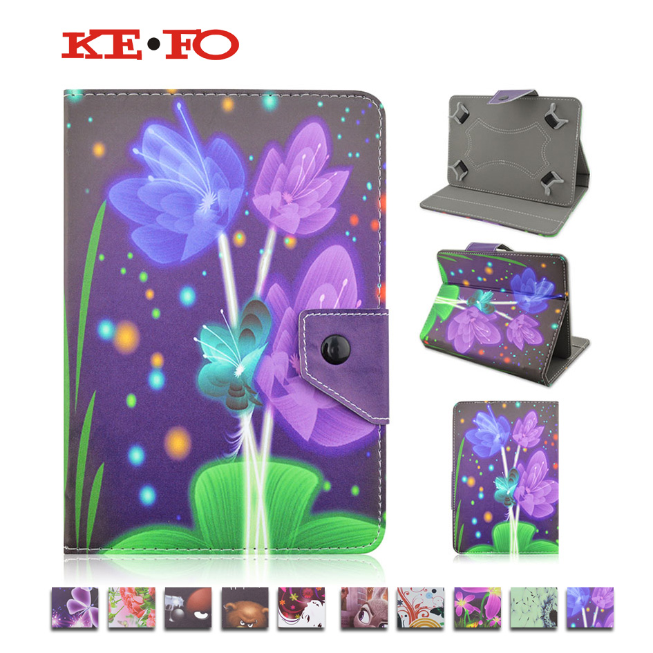 Kids Gifts 7inch Universal butterfly print Case For Explay ActiveD 7.4 3G 7.0 inch Tablet Cartoon PU Slim Stand Case Cover+film