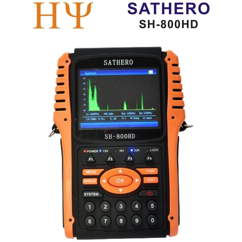 Original Sathero SH-800HD DVB-S2 Digital Satellite Finder Meter USB2.0 HD Output Satfinder HD with Spectrum Analyzer original dvb t satlink ws 6990 terrestrial finder 1 route dvb t modulator av hdmi ws 6990 satlink 6990 digital meter finder