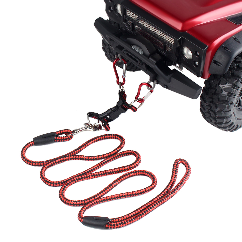 INJORA 1PCS Tow Rope with Hook for 1:5 1:8 1:10 <font><b>RC</b></font> <font><b>Car</b></font> Traxxas TRX4 E-REVO <font><b>X</b></font>-<font><b>Maxx</b></font> SUMMIT Axial SCX10 90046 WRAITH RR10 image
