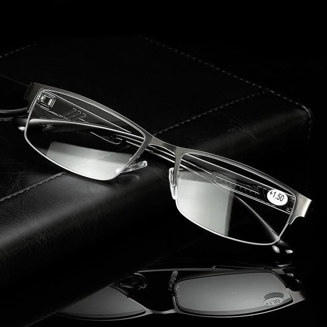 Kaleidoscope Glasses Men Presbyopic Glasses Male High Quality Metal Half Frame Reading Glasses Anti Radiation Elderly Eyeglasses