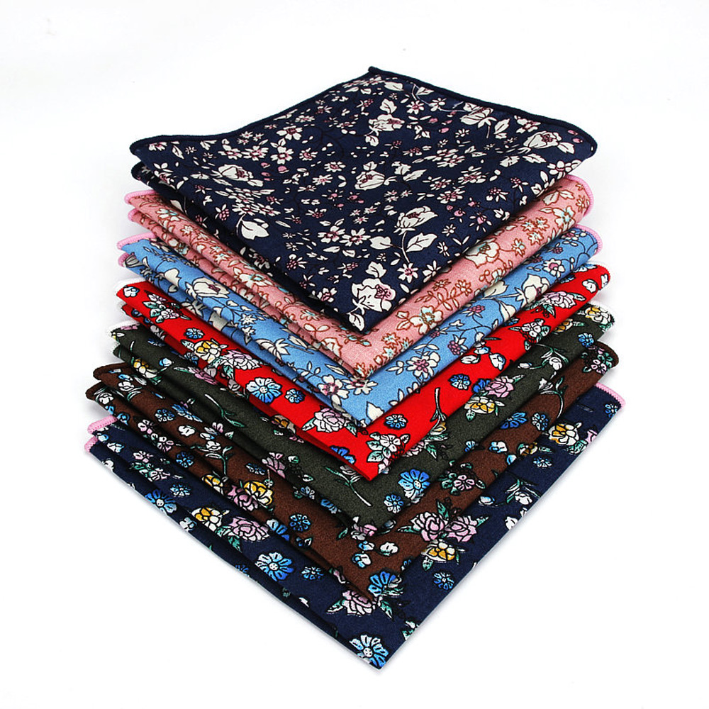 Men Colorful Floral Handkerchief Flower Hanky Wedding Party Tuxedo Pocket Square BWTYF0225