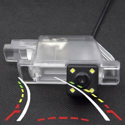 Intelligent Dynamic Trajectory Tracks Parking Rear view Camera For Peugeot 301 308 408 508 Waterproof Reverse Backup Camera