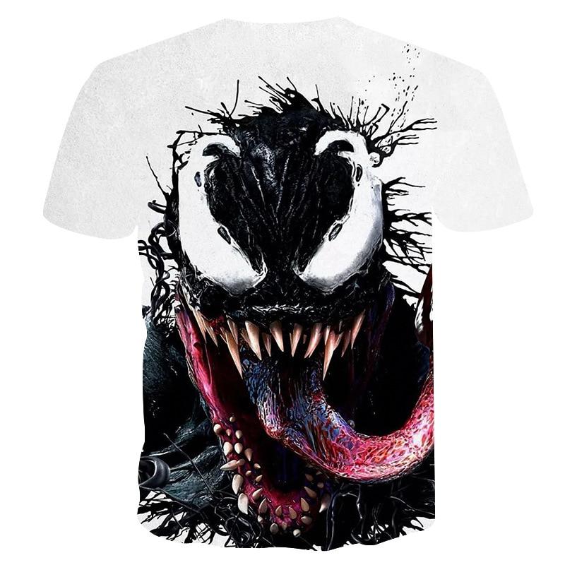 Mais novo Veneno t-shirt 3D Impresso T-shirt Das Mulheres Dos Homens Casual Camisa de Manga Curta de Fitness Camiseta Deadpool T-shirt homem Aranha Crânio topos