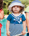 new 2016 summer baby girl clothing kids princess dresses for girls baby girl navy stripe dress girl's summer cute dress