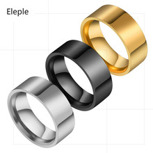 Eleple Simple Titanium Stainless Steel Rings for lovers Geometry Punk Style Party Gifts Jewelry Manufacturers Wholesale S-R213