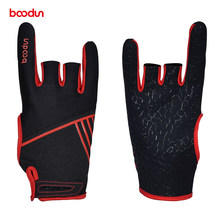 Boodun 1 Pair Men Women Bowling Glove Anti-Skid Soft Sports Bowling Ball Gloves Bowling Mittens Bowling Accessories(China)