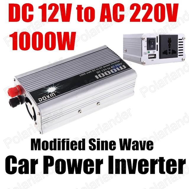 Conversor de Potência do carro Inversor Carregador USB 1000 W DC 12 V para AC 220 V Transformador de Tensão Portátil modificado sine onda