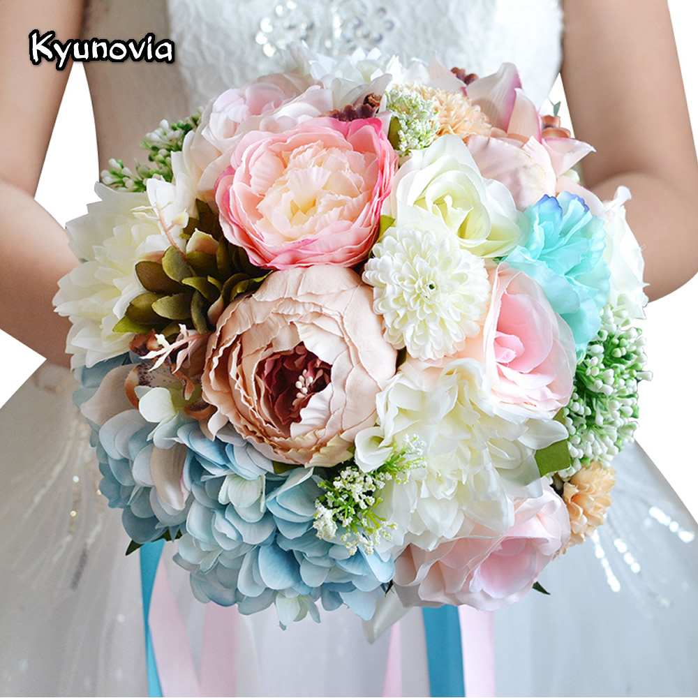 Romantic wedding bouquet mixed colors brooch bouquet wedding romantic wedding bouquet mixed colors brooch bouquet wedding accessories artifical wedding flowers bridal bouquets fe11 in wedding bouquets from weddings izmirmasajfo