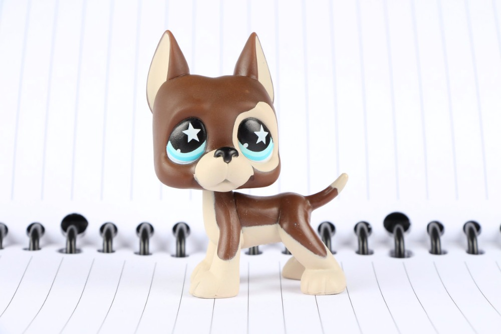 New Pet Collection Figure LPS #817 Great Dane Dog Brown Chocolate Star Blue Eyes Puppy Kids Toys pet great dane pet toys rare old styles dog lovely animal pets toys lot free shipping