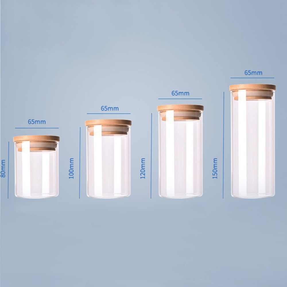 Przezroczyste wysokiej jakości szkło borokrzemowe kuchnia butelka do przechowywania sklep składnik żywności cukierki herbatniki słoik do przechowywania organizacji