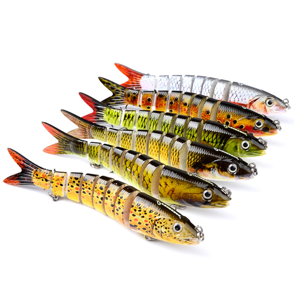 8 Jointed Sections Big Fishing Lure 3D Eyes Lifelike Fishing Lures Swim Bait Hard Bait Isca Artificial Lure Fishing Tackle mymei life like multi jointed fishing lure swim bait 3 9 fishing bass pike killer