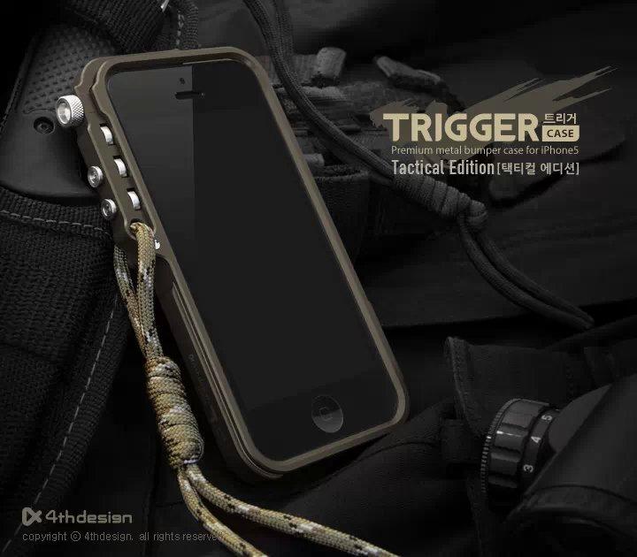 4 thdesign Trigger respingente del metallo per il iphone X 7 8 5 5 S SE 4 6 6 S Più premium di Alluminio di Aeronautica cassa del telefono del respingente edizione tattico