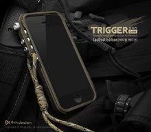 Trigger metal bumper for iphone 7 5 5S SE 4 6 6S Plus M2 4th design premium Aviation Aluminum bumper phone case tactical edition