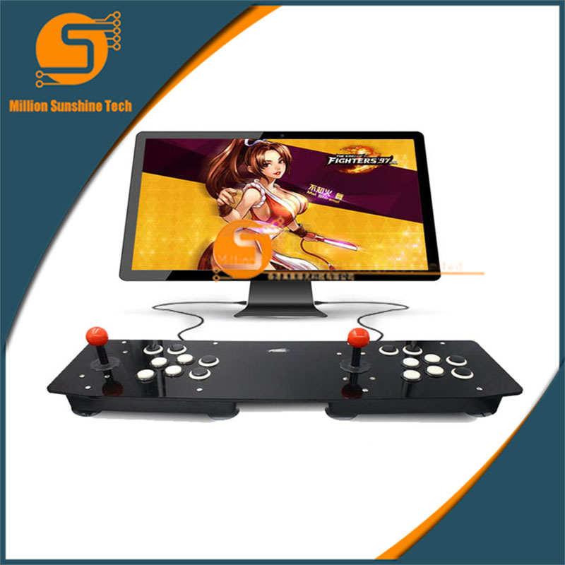 Double Acrylic Arcade Joystick Video Arcade Game Joystick Arcade Controller Console Game Machine For PC For Windows USB New flannel skidproof wood grain print rug page 8