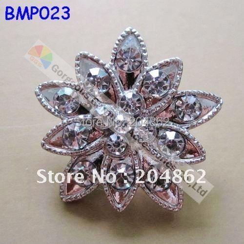 20pcs lot 25mm small tiny Sliver bridal wedding crystal rhinestone brooch  pin For Invitation Garment Browband Making 7f4785d56fa0