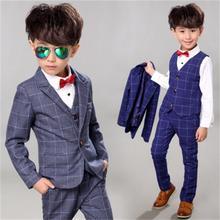blazers for boys Spring Kids Clothes Suit formal Plaid Coat