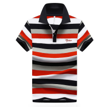 2017 100%Cotton Men Polo Short Sleeve Turn-down Cool Tee Homme Soft Striped Breathable Casual Contrast Color Hipster Top YN10123 men contrast binding striped tee