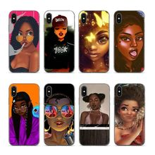 Aiboduo Fashion Black Girl For iphone 6 plus cover cases for XS XR XSMAX 7 7plus 8 8plus 5 5s 6plus coque