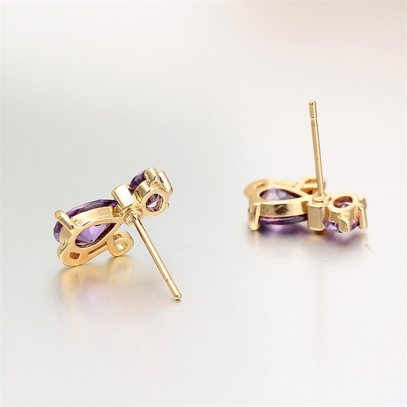 Hochzeits- & Verlobungs-schmuck Treu Yellow Gold Color Peach Heart Paved Oval Clear Cz Charm Drop Earrings Pendant Necklace Fashion Women Jewelry Sets Gift 18 Schmuck & Zubehör