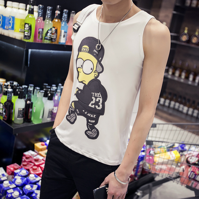 db0ab0bf669819 Amazon Quality Drop Shipping 2016 New Arrivals Men Tank Top Skateboard Hip  Hop Male Vest High