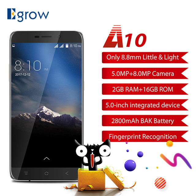 "Original Blackview A10 MT6580A Quad Core Android 7.0 Mobile Phone 5.0"" HD Cell Phones 2G RAM 16G ROM Smartphone Fingerprint ID"