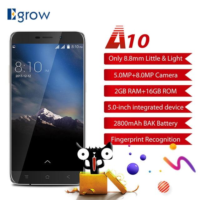"Original Blackview A10 MT6580A Quad Core Android 7.0 Mobile Phone 5.0"" HD Cell Phones 2G RAM 16G ROM Smartphone Fingerprint ID"