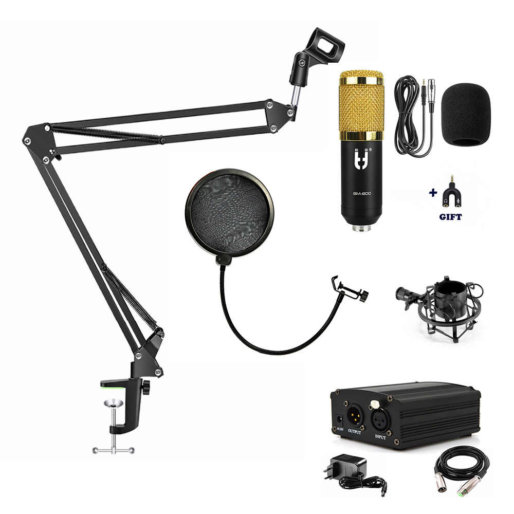 ITUF Professional Condenser Microphone for computer bm 800 Audio Studio Vocal Recording Mic KTV Karaoke Broadcastng