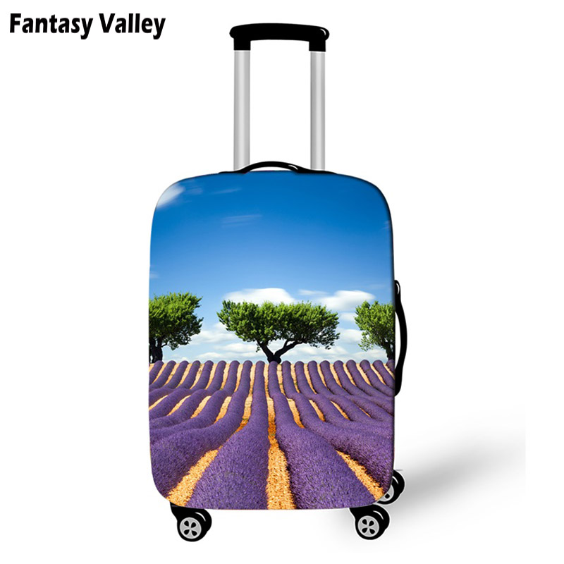 f771283960cc US $9.89 50% OFF|Peace And Love Suitcase Protective Cover Butterfly Mermaid  Tail Travel Bag Cover Girls Luggage Case Protector Travel Accessories-in ...