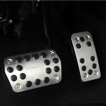 цена на NO DRILL Steel Car Antiskid Foot Pedals Pads Cover For 2012-2018 Ford Focus Gas Brake Pedal Replacement Kits