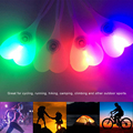 Night Safety Silicone RGB LED Bike Light Cycling Rear Taillight Waterproof Hiking Campimg Light Heart Shape Egg Lamp 3 Modes