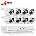 Anran 8ch sistema de segurança conjunto 1080n hdmi dvr ahd 720 p 1800TVL IR Ao Ar Livre Câmera de CCTV de Vigilância de Vídeo Em Casa Kits de E-mail alerta