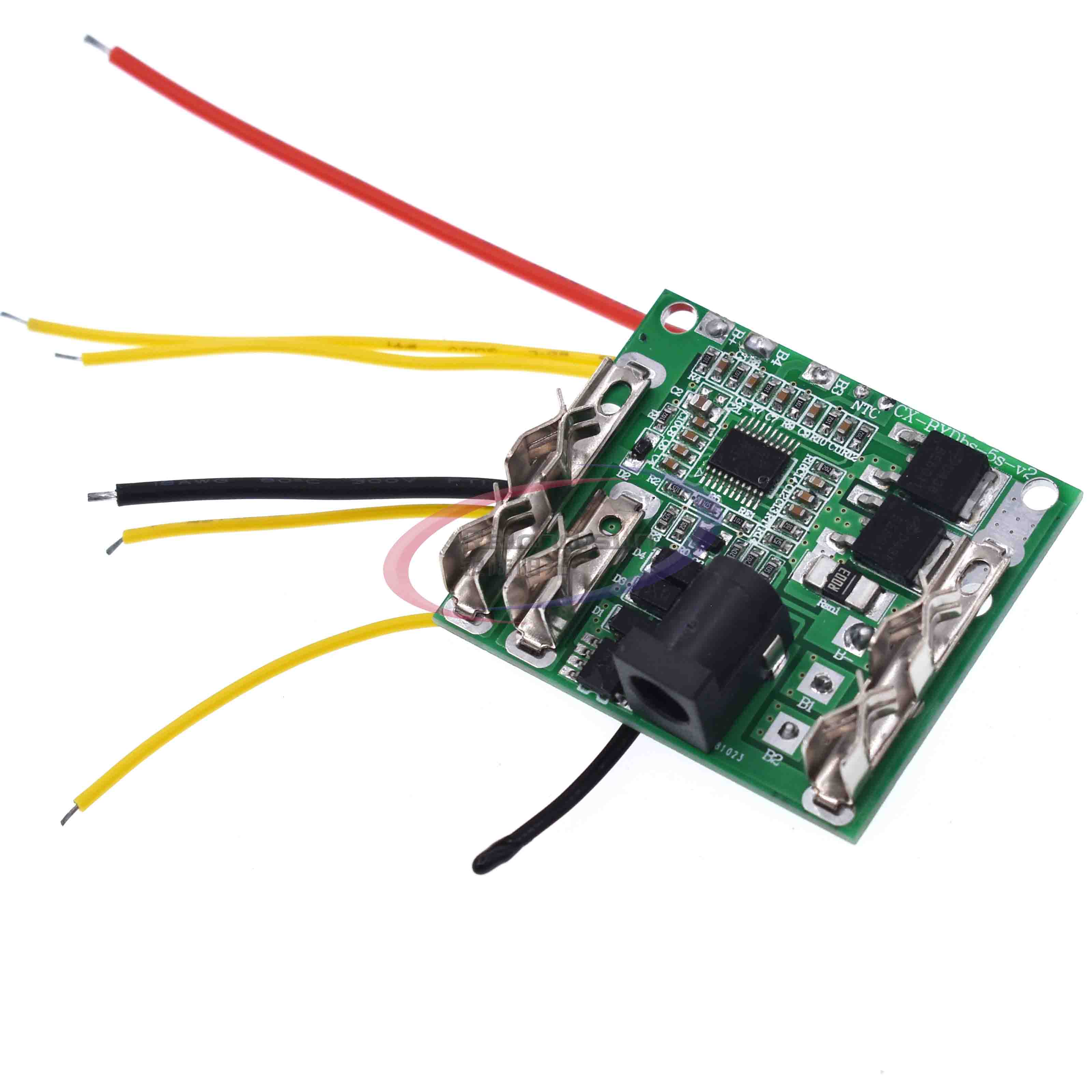 Battery Charging Protection Board 5S 18/21V 20A Li-Ion Lithium Battery Pack Protection Circuit Board BMS Module For Power Tools