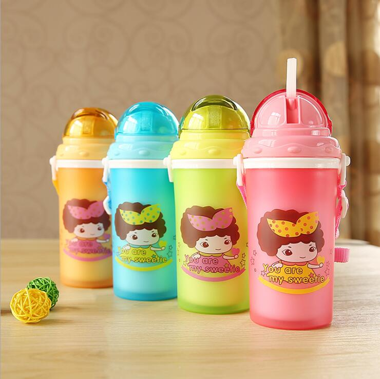 300ml Eco-friendly Kid Baby Kettle Baby Cartoon Mickey Water Bottle Children Straw Bottle Baby Learn Drinking Water Cup