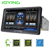 JOYING universal 1din android 6.0 car radio head unit built-in digital amplifier with 7inch touch screen GPS navigation system