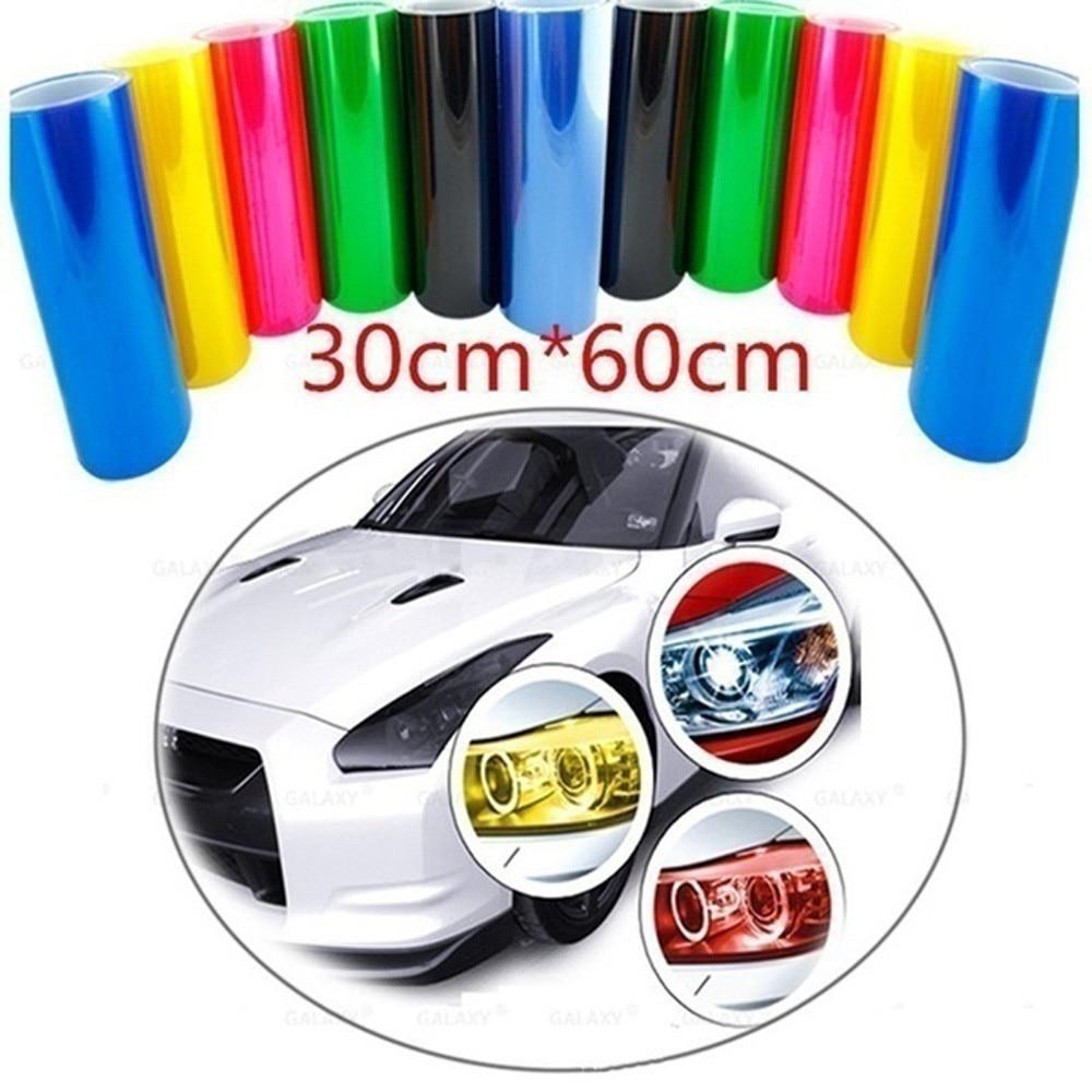 60cm Professional Design Car Fog Smoke Head Lamp Tone Vinyl Film Film Waterproof Body Film 30 12 Colors
