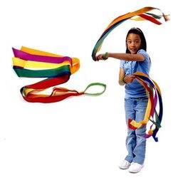 New Sport Dance Rainbow Ribbon Kids Gym Rhythmic Gymnastics Art Gymnastic Exercises Cheerleading Fitness