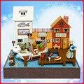 T017 поделки кукольный домик часть пиратский порт поделки миниатюрный деревянный дом миниатюры