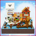 T017 diy dollhouse Piece Pirate Port DIY miniature doll wooden house miniatures