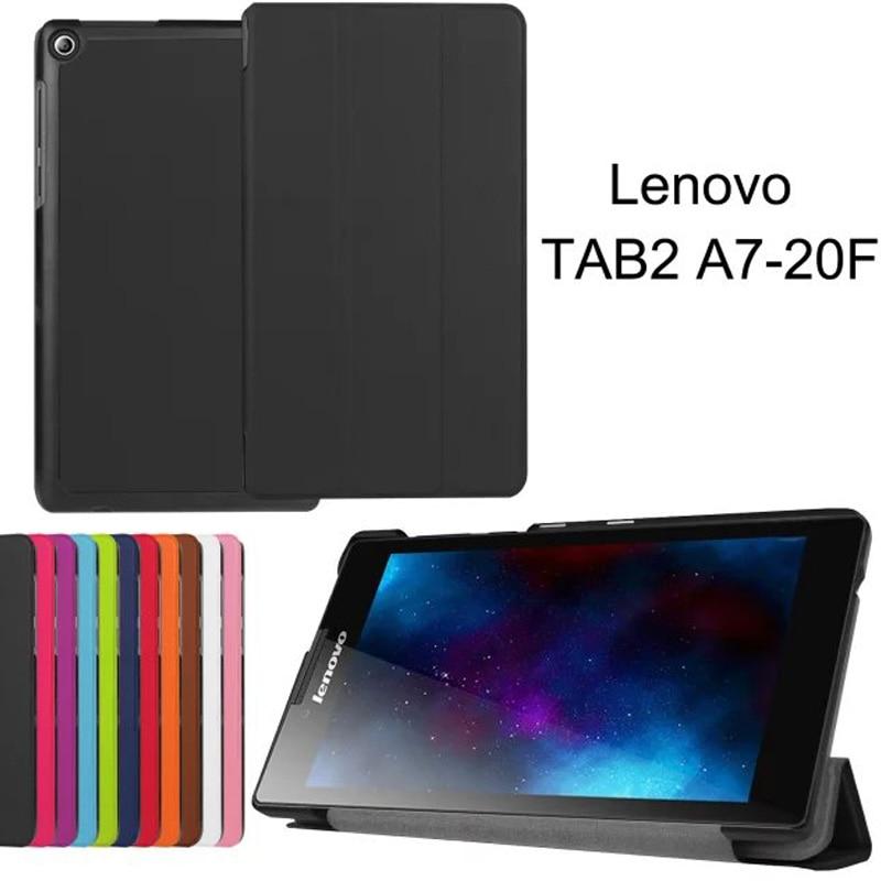 Super Slim SCase for Lenovo tab 2 A7-20F Cover Flip PU Leather Tablet Smart Cover for Lenovo tab 2 A7-20F Case 7.0inch+Stylus lenovo tab 2 a7 20f 8gb