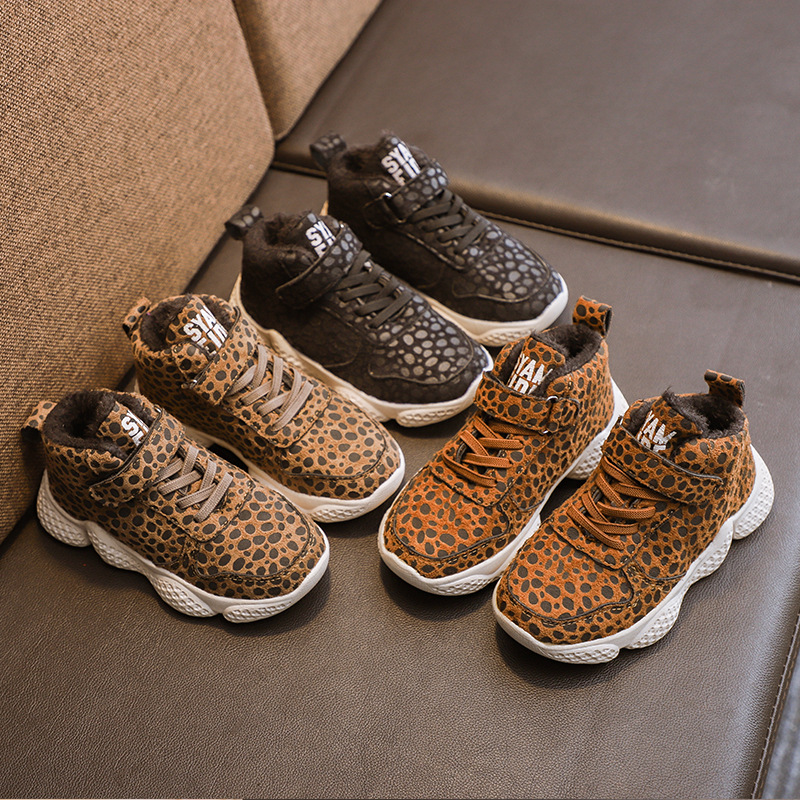 Child Kids Baby Sequin Sneakers Shoes Bling Leopard Toddler Children Shoes Girls Boys Casual Shoes Boys Running Sports Sneakers
