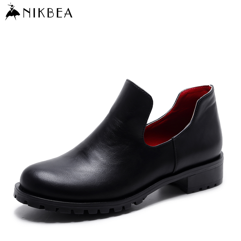 NIKBEA 2017 Spring Fashion Womens Shoes Flats Loafers Women Black Plus Size Ladies Zapatillas Mujer Chaussure Femme 40 41 new 2017 spring summer women shoes pointed toe high quality brand fashion womens flats ladies plus size 41 sweet flock t179