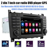 For M/ercedes B ENZ W203 W209 W169 W219 A Class A160 C Class C180 C200 CLK200 CLK350 Andorid 6.0 Car DVD Player new