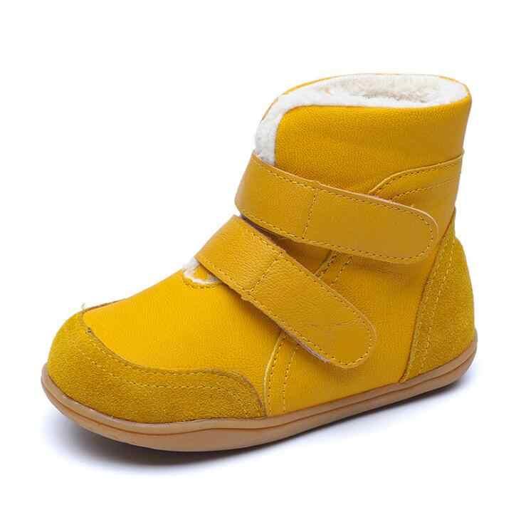 2019 новые зимние детские ботинки для девочек и мальчиков из натуральной кожи, детские теплые ботильоны для мальчиков и девочек, утолщенная хлопковая обувь