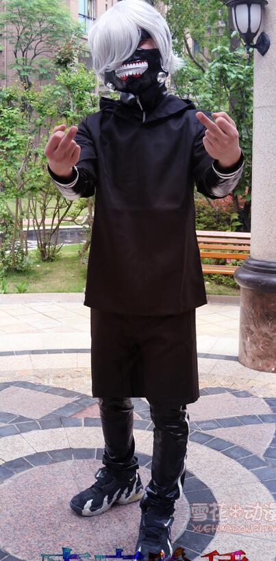 Japaness AnimeTokyo Ghoul Kaneki KenAnime Cosplay Costume leather dress  Halloween Cosplay Costume
